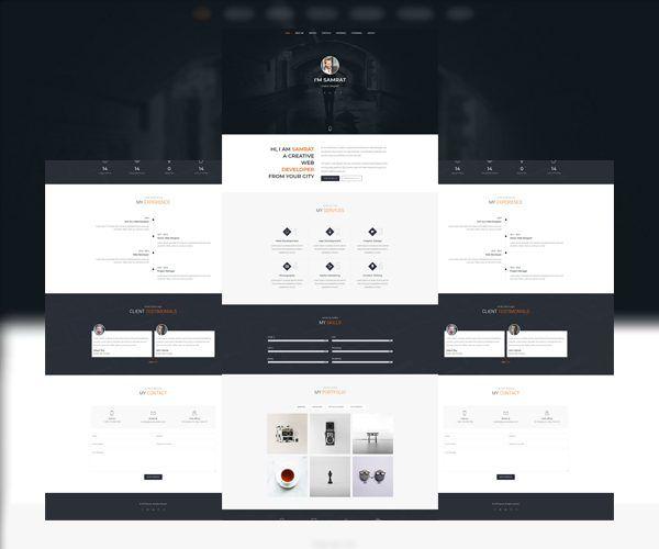 Samrat - One Page Personal Portfolio Template
